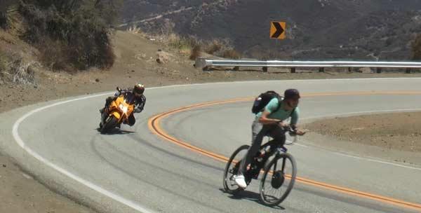 تست سرعت دوچرخه برقی