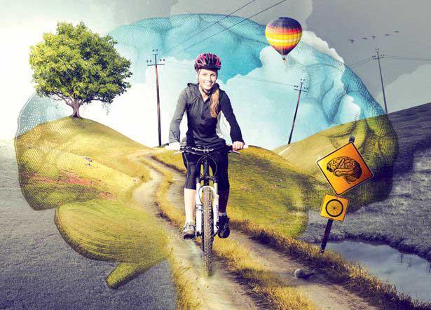 سلامت مغز با دوچرخه سواری