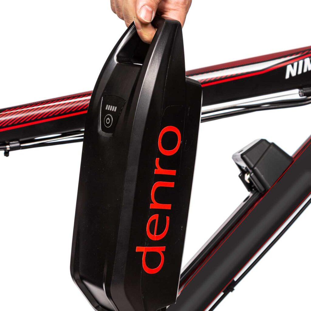 عکس باتری قابل حمل دوچرخه برقی دنرو الگانت8