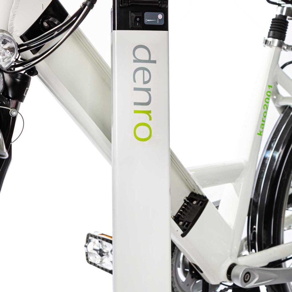 عکس باتری دوچرخه برقی شهری دنرو کارو