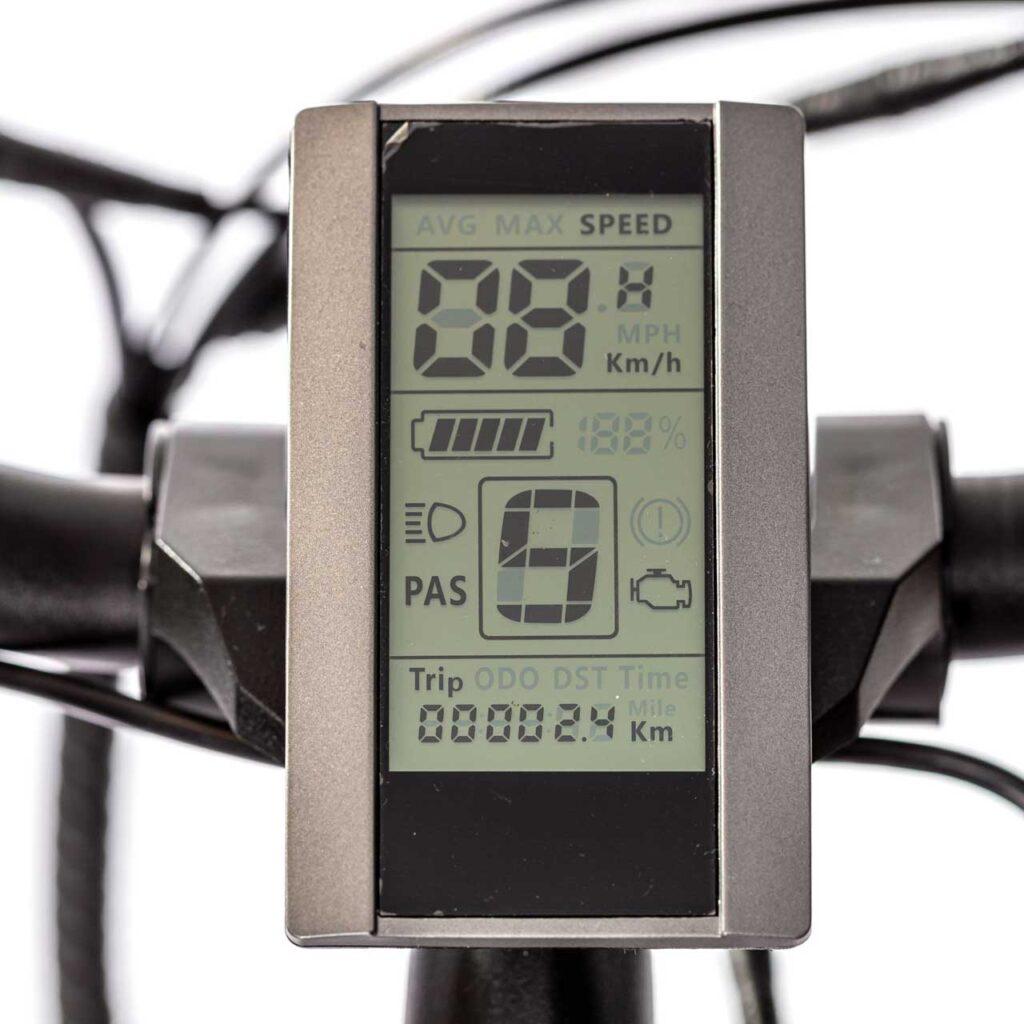 عکس کیلومتر شمار دوچرخه برقی شهری دنرو کارو