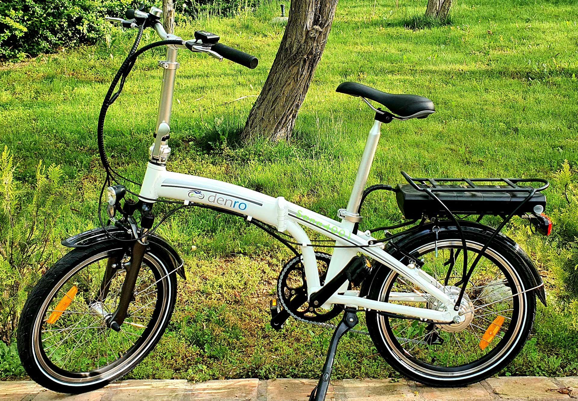 دوچرخه برقی تاشو سانا در طبیعت