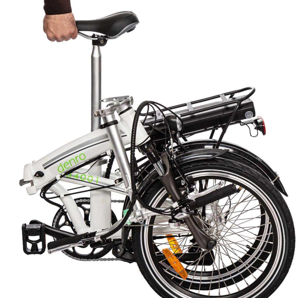 عکس دوچرخه برقی تاشو سانا در طبیعت