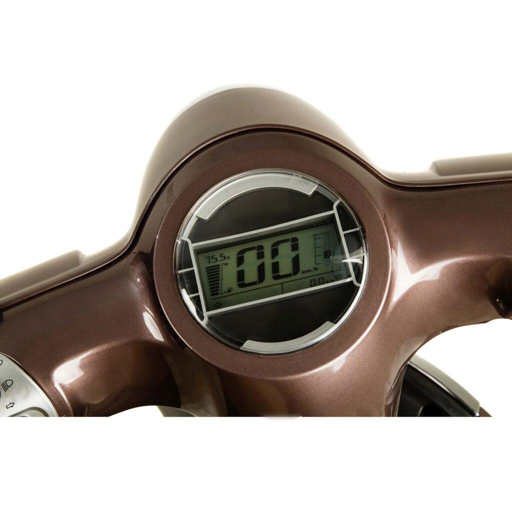 تصویر صفحه نمایشگر موتور سیکلت برقی طرح وسپا RS3000