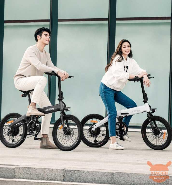 دوچرخه برقی تاشو Xiaomi z20 رنگ سفید و سیاه