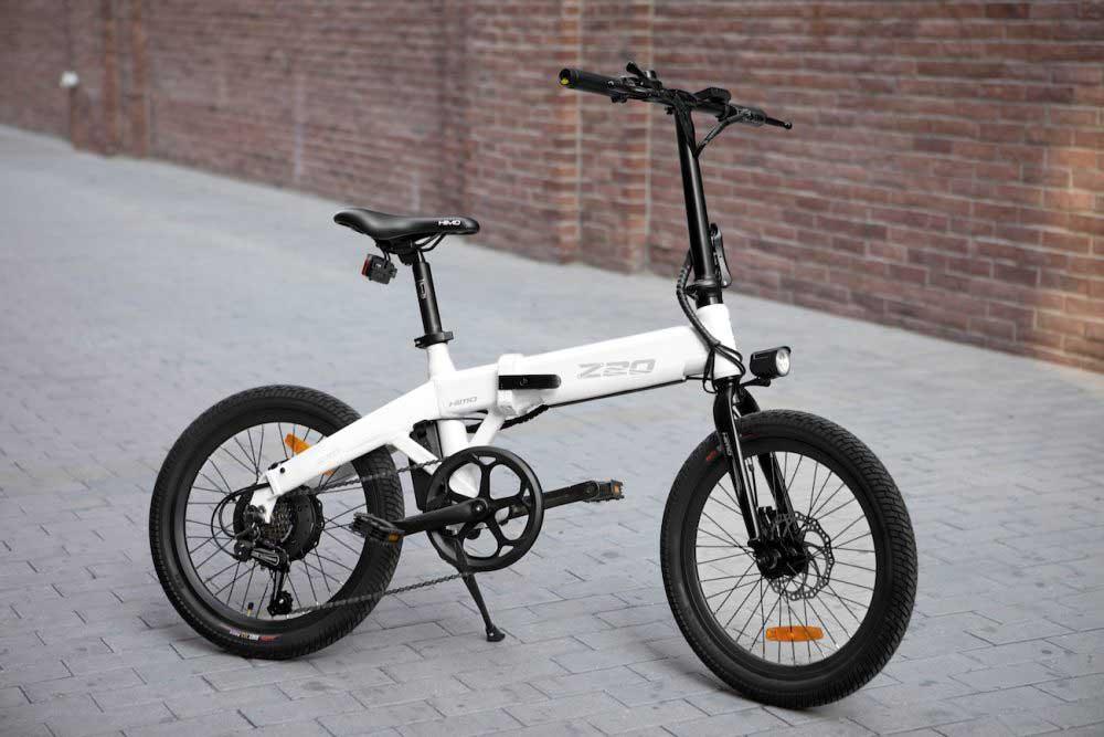 تصویر دوچرخه برقی تاشو شیائومی z20 با رنگ سفید