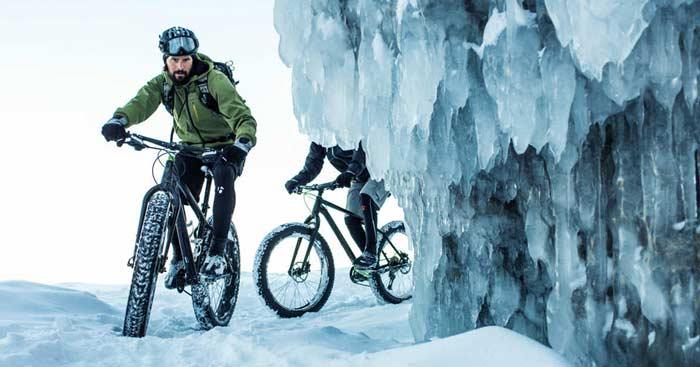 دوچرخه سواری در زمستان با لاستیک پهن