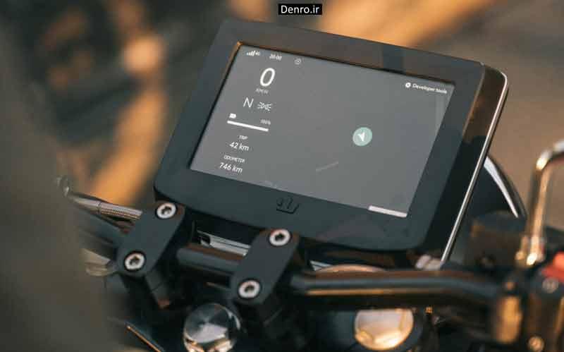 صفحه نمایش موتور سیکلتهای برقی RGNT